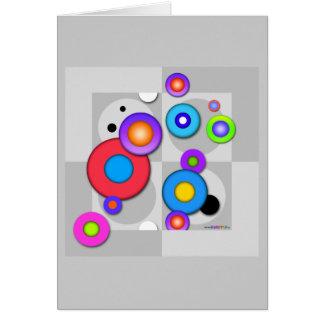 Pop Art CIRCLES Customizable GREETING - NOTE CARD