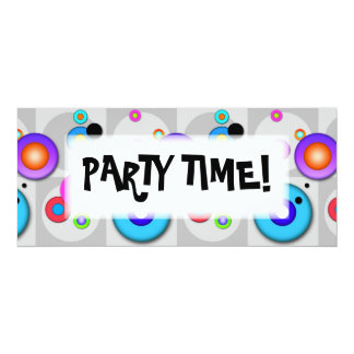 Pop Art CIRCLES Customizable INVITATIONS