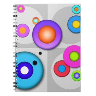 Pop Art CIRCLES Customizable NOTEBOOK