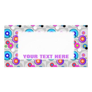 Pop Art CIRCLES Customizable PHOTO CARDS