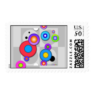Pop Art CIRCLES Customizable POSTAGE