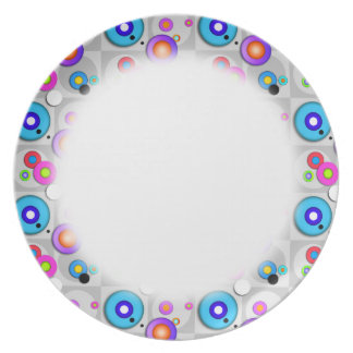 Pop Art CIRCLES Designer PLATE