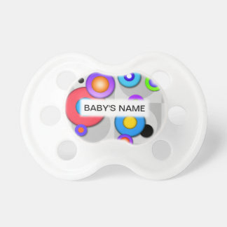 Pop Art CIRCLES on a Customizable PACIFIER