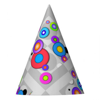 POP ART CIRCLES PARTY HAT