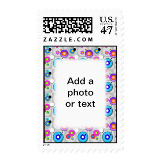 Pop Art CIRCLES Personalizable POSTAGE