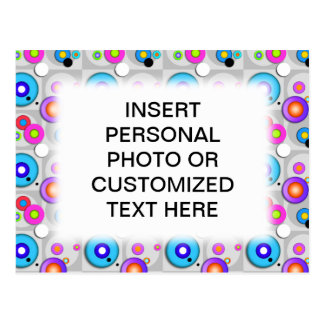 Pop Art CIRCLES Personalizable POSTCARD