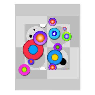 Pop Art CIRCLES POSTCARD