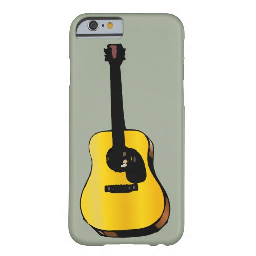 Pop Art Classical Guitar Barely There iPhone 6 Case