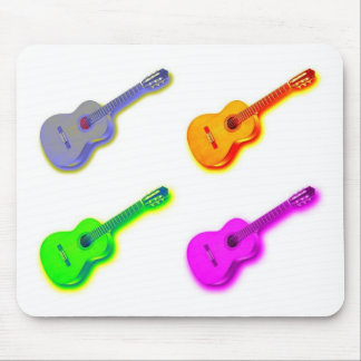Pop Art Classical Spanish Guitar Mouse Pads
