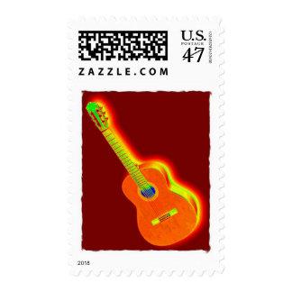 Pop Art Classical Spanish Guitar Postage