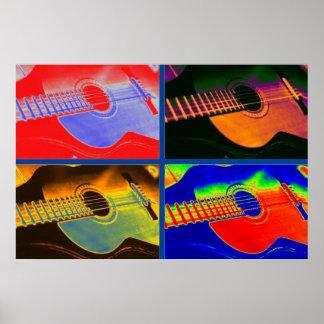 Pop Art Classical Spanish Guitar Poster