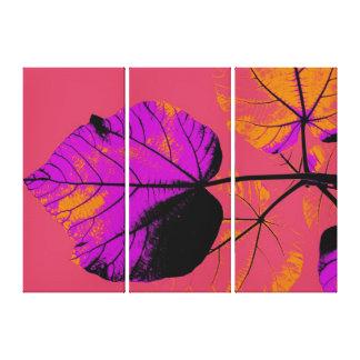Pop Art Close-up Leaf Abstract Canvas Print
