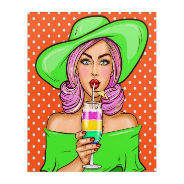 Professional Business Pop Art Cocktail Chill Acrylic Wall Art