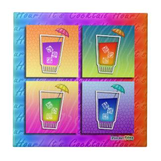 Pop Art Cocktails Coaster Tile