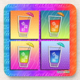 Pop Art Cocktails Cork Coaster