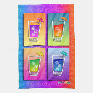 Pop Art COCKTAILS Kitchen, Bar or Bath TOWEL