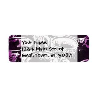 Pop Art Coffee Mugs Watercolor Print in Purple Label