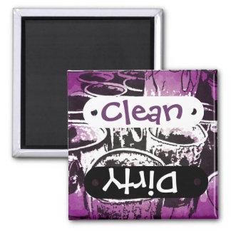 Pop Art Coffee Mugs Watercolor Print in Purple Refrigerator Magnets