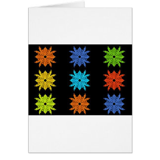 Pop Art Collage Fractal Art Card
