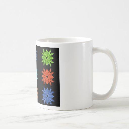 Pop Art Collage Fractal Art Classic White Coffee Mug