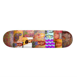 pop art collage(music and portraits) skateboard