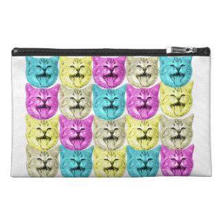 pop art color cat travel accessories bag