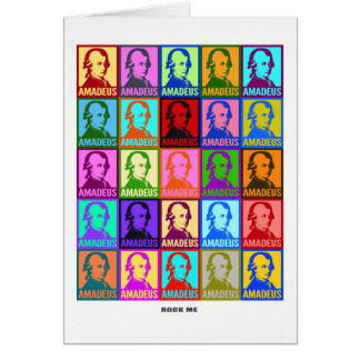 Pop Art Colorful Amadeus | Mozart Rock Me Card