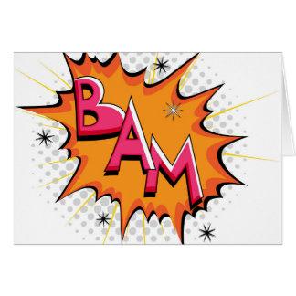 Pop Art Comic Bam! Card
