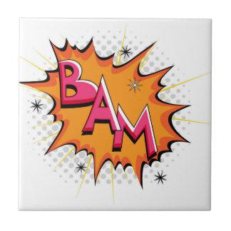 Pop Art Comic Bam! Ceramic Tile