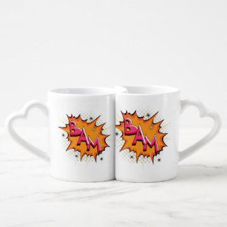 Pop Art Comic Bam! Coffee Mug Set