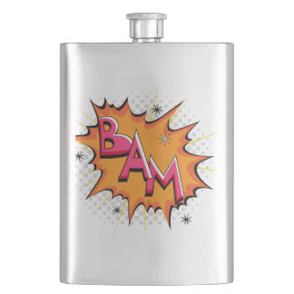 Pop Art Comic Bam! Flask