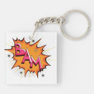 Pop Art Comic Bam! Acrylic Key Chains