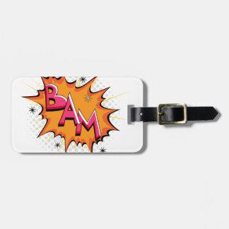 Pop Art Comic Bam! Luggage Tag