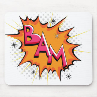 Pop Art Comic Bam! Mouse Pad