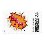 Pop Art Comic Bam! Postage Stamp