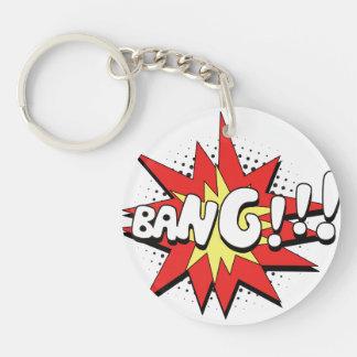 Pop Art Comic Bang! Single-Sided Round Acrylic Keychain