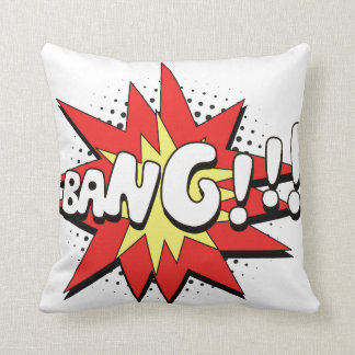 Pop Art Comic Bang! Throw Pillow