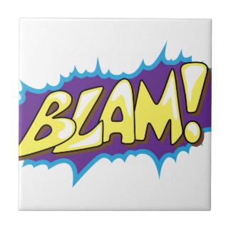 Pop Art Comic Blam! Ceramic Tile
