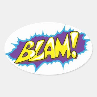 Pop Art Comic Blam! Oval Sticker
