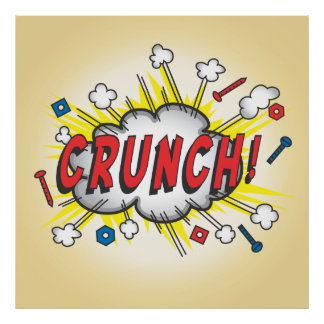 Pop art Comic book inspired Crunch! poster