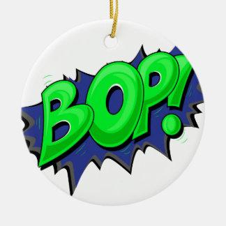 Pop Art Comic Bop! Christmas Tree Ornament