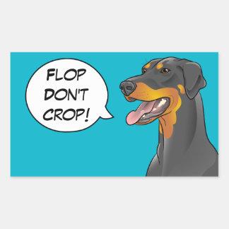 Pop Art Comic Doberman Cropping Awareness Dog Rectangular Sticker