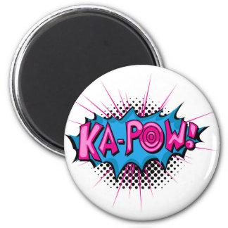 Pop Art Comic Ka-Pow! 2 Inch Round Magnet