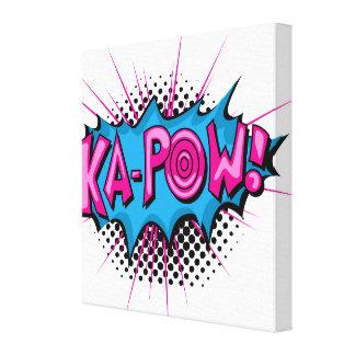 Pop Art Comic Ka-Pow! Canvas Print