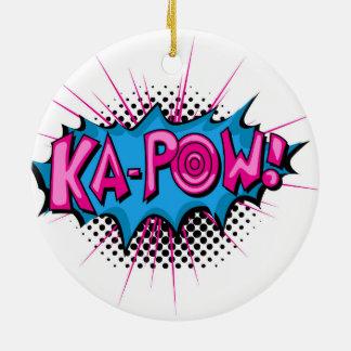 Pop Art Comic Ka-Pow! Christmas Ornament