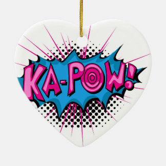 Pop Art Comic Ka-Pow! Christmas Ornaments