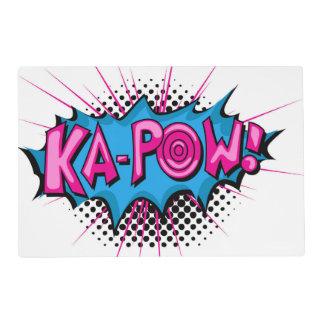 Pop Art Comic Ka-Pow! Placemat