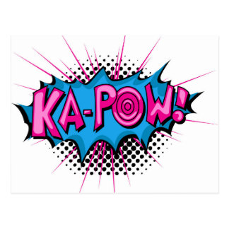 Pop Art Comic Ka-Pow! Postcard