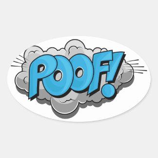 Pop Art Comic Poof! Oval Sticker