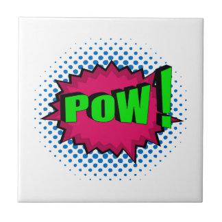 Pop Art Comic Pow! Ceramic Tile
